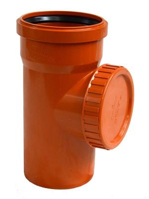 Ревизия ПВХ Ø 200 мм для наружной канализации купить в интернет-магазине Азбука Сантехники