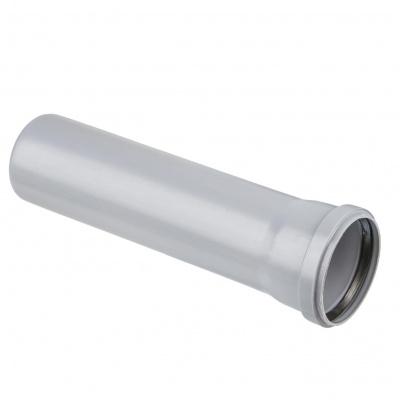 Труба с раструбом Политэк Ø 110 мм × 2,7 × 1000 мм полипропиленовая серая купить в интернет-магазине Азбука Сантехники
