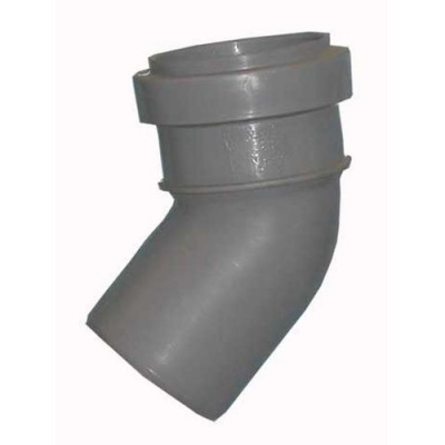 Отвод Политэк Ø 32 мм × 45° полипропиленовый серый купить в интернет-магазине Азбука Сантехники
