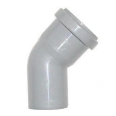 Отвод Политэк Ø 40 мм × 45° полипропиленовый серый купить в интернет-магазине Азбука Сантехники