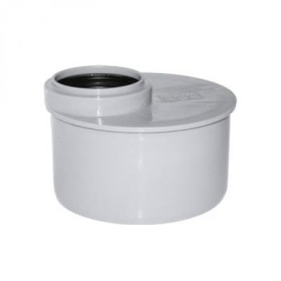 Переход эксцентрический Политэк Ø 110/50 мм короткий полипропиленовый серый купить в интернет-магазине Азбука Сантехники