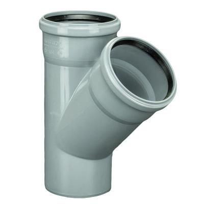 Тройник Политэк Ø 110 × 110 мм × 45° полипропиленовый серый купить в интернет-магазине Азбука Сантехники