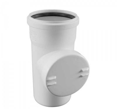 Ревизия Rehau Raupiano Plus с резиновым уплотнительным кольцом Ø 110 мм купить в интернет-магазине Азбука Сантехники