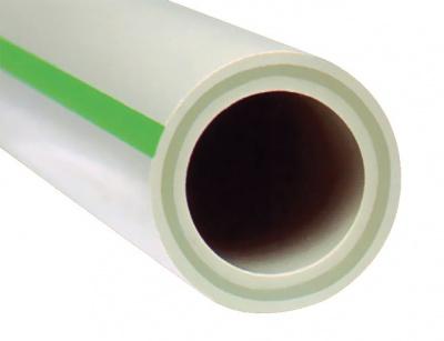 Труба полипропиленовая FV-Plast Faser PN20 Ø 40 × 6,7 мм со стекловолоконным слоем купить в интернет-магазине Азбука Сантехники