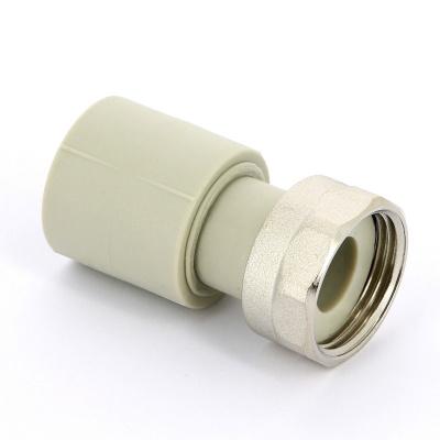 """Муфта полипропиленовая с накидной гайкой FV-Plast Ø 25 мм × 1"""", для холодной воды купить в интернет-магазине Азбука Сантехники"""