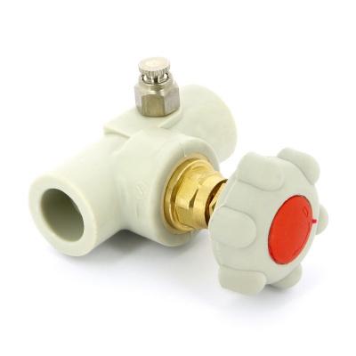 FV-plast вентиль полипропиленовый Ø 20 мм сварка со сливным клапаном купить в интернет-магазине Азбука Сантехники