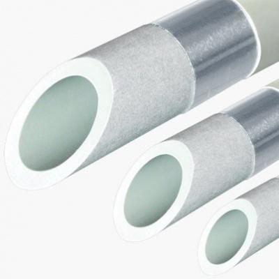 Труба полипропиленовая армированная PN20 FV-plast StabiOXY Ø 90 × 10,1 мм с алюминиевым слоем без перфорации (4 м) купить в интернет-магазине Азбука Сантехники