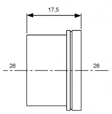 Гильза для труб PE-Xc, PE-MDXc Ø 20 мм, TECE TECEflex (704020) купить в интернет-магазине Азбука Сантехники