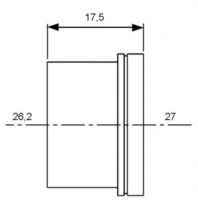 Гильза для трубы PE-Xc/Al/PE Ø 20 мм, TECE TECEflex (734520) купить в интернет-магазине Азбука Сантехники