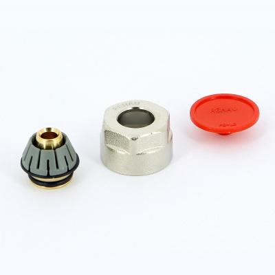 Соединитель обжим-В никелированный для трубы RAUTHERM S REHAU 17 × 2,0 мм ЕК купить в интернет-магазине Азбука Сантехники