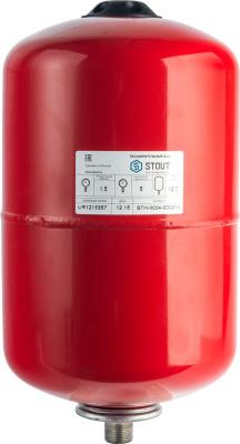 Расширительный бак STOUT 12 л для отопления, вертикальный купить в интернет-магазине Азбука Сантехники
