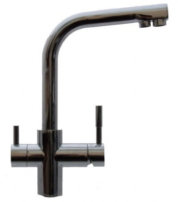 Кран комбинированный ATOLL NKD A-0212-CP-L (хром) купить в интернет-магазине Азбука Сантехники