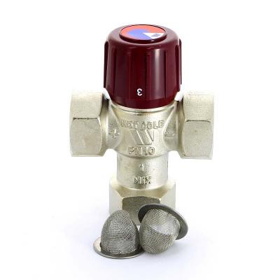 """Термосмеситель WATTS AQUAMIX 62C для ГВС 1"""" с внутренней резьбой, диапазон регулирования 42-60 °C купить в интернет-магазине Азбука Сантехники"""