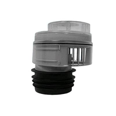 Клапан вентиляционный (аэратор) для канализации McALpine MRAA1-CLEAR со смещением, прокладкой и прозрачной крышкой купить в интернет-магазине Азбука Сантехники