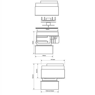 Клапан вентиляционный (аэратор) для канализации McALpine MRAA1PS со смещением купить в интернет-магазине Азбука Сантехники