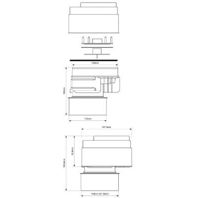 Клапан вентиляционный (аэратор) для канализации McALpine MRAA1PS-CLEAR со смещением и прозрачной крышкой купить в интернет-магазине Азбука Сантехники