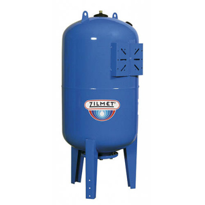 Zilmet ULTRA-PRO - 100 л гидроаккумулятор вертикальный синий (PN16, мембрана бутил, фланец стальной) купить в интернет-магазине Азбука Сантехники