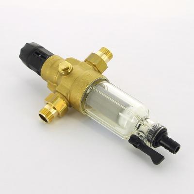 """Фильтр промывной BWT Protector mini HWS Ø 1/2"""" 100 мкм для холодной воды, пластиковая колба купить в интернет-магазине Азбука Сантехники"""