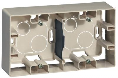 Legrand Etika Cлоновая кость Коробка для накладного монтажа 2 поста купить в интернет-магазине Азбука Сантехники
