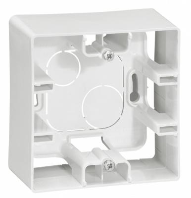 Legrand Etika Белый Коробка для накладного монтажа 1 пост купить в интернет-магазине Азбука Сантехники
