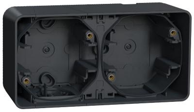 Schneider Electric Mureva Styl Антрацит Рамка подъемная 2 поста IP55 (MUR37914) купить в интернет-магазине Азбука Сантехники