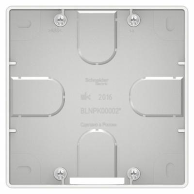 Schneider Electric Blanca Белый Коробка подъемная для силовых розеток скрытой установки купить в интернет-магазине Азбука Сантехники