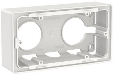 Schneider Electric Unica New Белый Коробка для открытой установки 1-постовая (NU800418) купить в интернет-магазине Азбука Сантехники