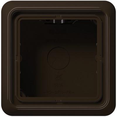 Jung Коричневый Коробка для накладного монтажа 1-ая с рамкой купить в интернет-магазине Азбука Сантехники