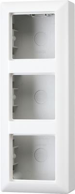 Jung Белый Коробка для накладного монтажа 3-aя с рамкой купить в интернет-магазине Азбука Сантехники