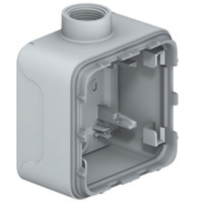Legrand Plexo Серый Коробка монтажная 1-местная для накладного монтажа горизонтальная IP66 купить в интернет-магазине Азбука Сантехники