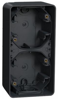 Schneider Electric Mureva Styl Антрацит Рамка подъемная 2 поста IP55 (MUR37912) купить в интернет-магазине Азбука Сантехники