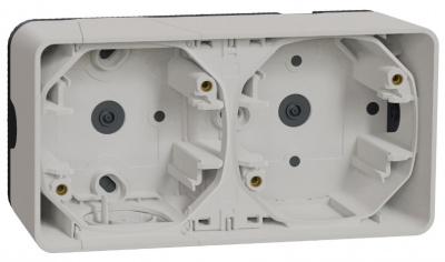 Schneider Electric Mureva Styl Белый Рамка подъемная 2 поста IP55 купить в интернет-магазине Азбука Сантехники
