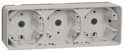 Schneider Electric Mureva Styl Белый Рамка подъемная 3 поста IP55 купить в интернет-магазине Азбука Сантехники