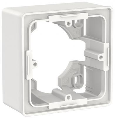 Schneider Electric Unica New Белый Коробка для открытой установки 1-постовая (NU800218) купить в интернет-магазине Азбука Сантехники