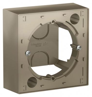 Schneider Electric AtlasDesign Шампань Коробка для наружного монтажа купить в интернет-магазине Азбука Сантехники