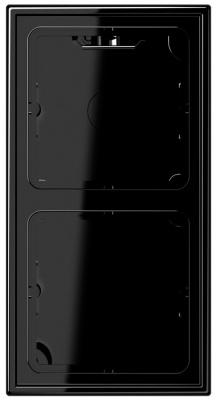Jung Черный Коробка для накладного монтажа с рамкой LS (LS582ASW) купить в интернет-магазине Азбука Сантехники