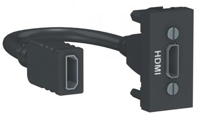 Schneider Electric Unica New Modular Антрацит Розетка HDMI 1 модуль купить в интернет-магазине Азбука Сантехники