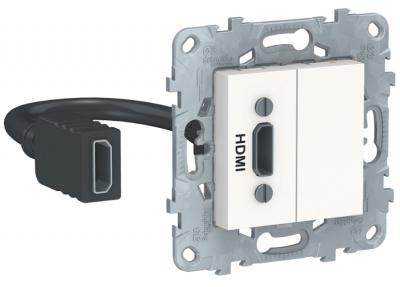 Schneider Electric Unica New Белый Розетка HDMI купить в интернет-магазине Азбука Сантехники