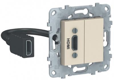 Schneider Electric Unica New Бежевый Розетка HDMI купить в интернет-магазине Азбука Сантехники