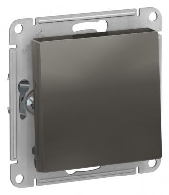 Schneider Electric AtlasDesign Сталь Кнопка нажимная сх.1 10AX механизм купить в интернет-магазине Азбука Сантехники