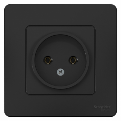 Schneider Electric Blanca Антрацит Розетка б/з без шторок скрытой установки 16A 250В купить в интернет-магазине Азбука Сантехники