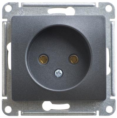 Schneider Electric Glossa Антрацит Розетка б/з 16A 250В механизм купить в интернет-магазине Азбука Сантехники