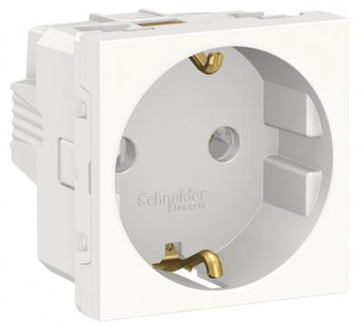 Schneider Electric Unica New Modular Белый Розетка с/з без шторок винтовой зажим 16A 250В 2 мод купить в интернет-магазине Азбука Сантехники