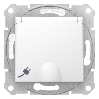 Schneider Electric Sedna Белый Розетка IP44 16А с з/к со шторками быстрозажимные контакты купить в интернет-магазине Азбука Сантехники