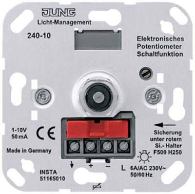Jung Механизм Ledotron Потенциометр повоторный для л/л эл.трансформаторов 1-10W купить в интернет-магазине Азбука Сантехники