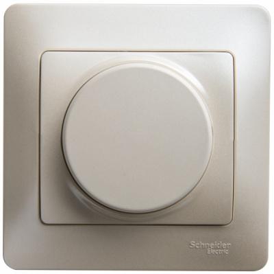 Schneider Electric Glossa Перламутр Светорегулятор универсальный 600Вт/ВА в сборе купить в интернет-магазине Азбука Сантехники