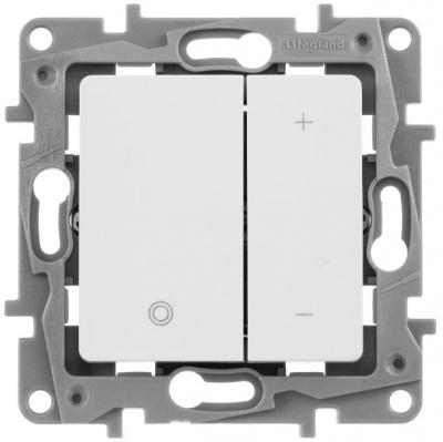 Legrand Etika Белый Светорегулятор нажимной 20-400 Вт купить в интернет-магазине Азбука Сантехники
