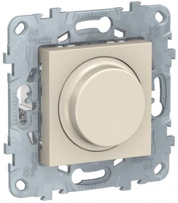 Schneider Electric Unica New LED Бежевый Светорегулятор поворотно-нажимной универсальный 5-200Вт купить в интернет-магазине Азбука Сантехники