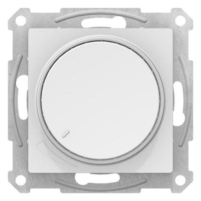 Schneider Electric AtlasDesign Белый Светорегулятор (диммер) поворотно-нажимной 315Вт механизм купить в интернет-магазине Азбука Сантехники