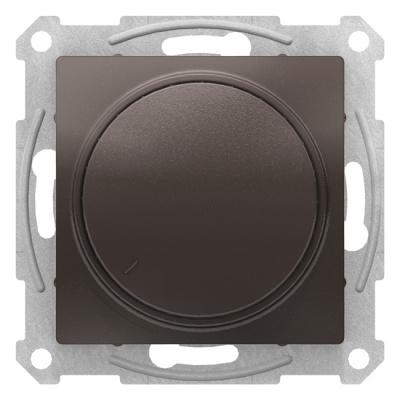 Schneider Electric AtlasDesign Мокко Светорегулятор (диммер) поворотно-нажимной 630Вт механизм купить в интернет-магазине Азбука Сантехники